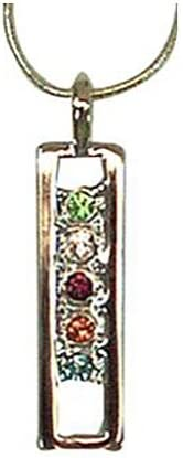 Exselle Platinum Plated Colored Crystal Pendant