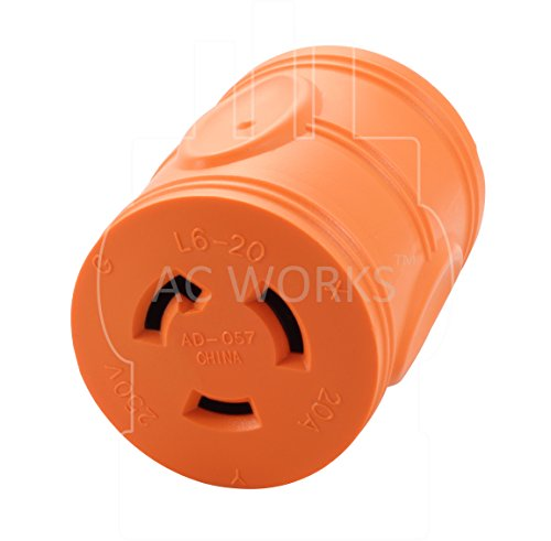 AC WORKS [AD620L620] Locking Adapter NEMA 6-20P 20Amp 250Volt Male Plug to NEMA L6-20R 20Amp 250Volt Locking Female Connector by AC WORKS (Image #3)