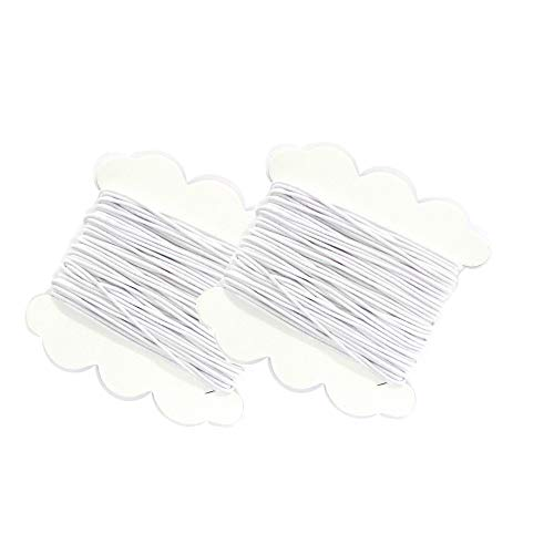 Linpeng 1.5mm White Cord-5 yds Elastic - 2 Cards per Pack
