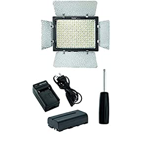Osaka Bi-Color Dimmable LED Video Light OS 300 Mark III with Battery and Charger for All DSLR and Video Cameras and YouTube Video Shooting