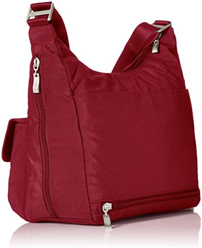 Baggallini Hobo Tote Water-Resistant Travel Purse With Multiple P Lightweight