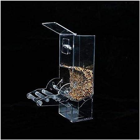 Periquito Canarias pájaro del Loro automático del alimentador del pájaro del Loro Jaula de la semilla de Alimentos Bird Box Accesorios Pueden Hacer Que su Mascota a Comer Mejor (Color: A) JIAJIAFUDR