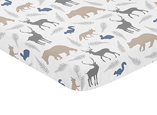 Baby Portable Mini Crib Sheet Sweet Jojo Grey Woodland Beddi