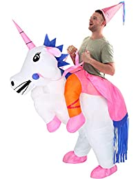 Unicorn Costume Inflatable Suit Halloween Cosplay Fantasy Costumes Adult/Kids