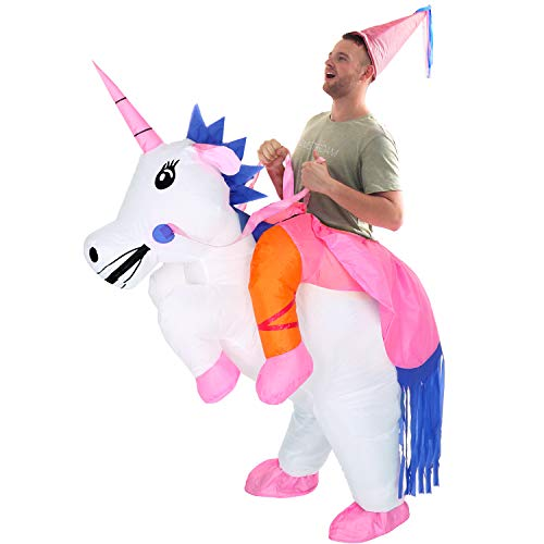 YEAHBEER Inflatable Costume Dinosaur Costumes Unicorn Cosplay Costumes Halloween Costume Costumes (Unicorn Adults)]()