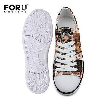 FidgetFidget Soft Low High Top Canvas Shoes Comfort Casual Sneakers for Women Lady C4262AP cute dog9