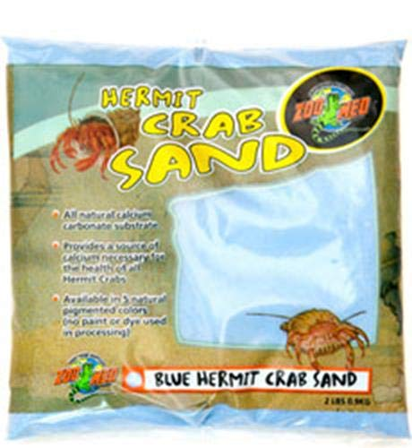 - Zoo Med Laboratories SZMHC2B Hermit Crab, 2-Pound, Sand Blue