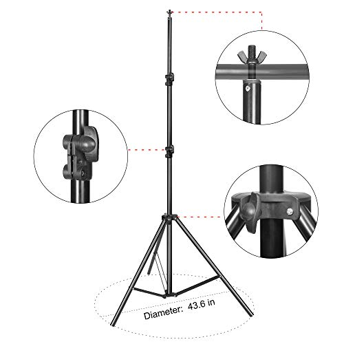 Emart Portable Photo Studio 9.2x10ft Background Support System with 3 Color Muslin Backdrops (Green Black White, 10ft X 12ft) for Portrait, Product Photography and Video Shooting by EMART (Image #3)