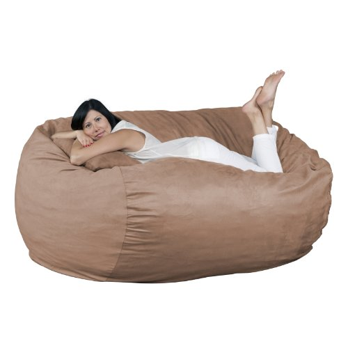 FUGU Big Bean Bag Chair, Premium Foam Filled 6 XL, Protective Liner Plus Removable Machine Wash Earth Cover