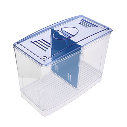 Shoresu Aquarium Incubator Fish Tank Clear Separative Box Breeding Feeding Hatchery Case by Shoresu