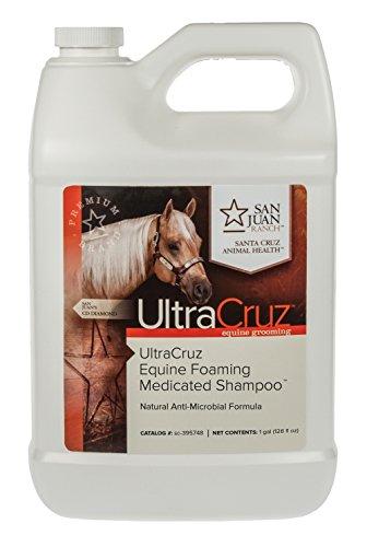 UltraCruz Equine Foaming Medicated Shampoo for Horses, 1 Gallon Refill ()