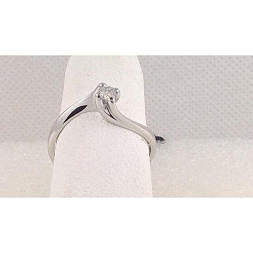 Solitaire artisanale Solitaire quatre embouts sol122or blanc diamant