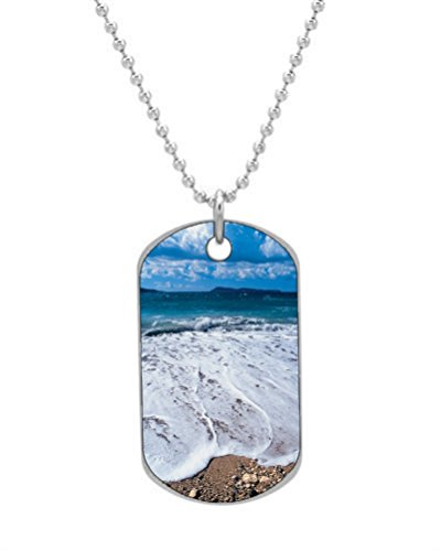 Beach Tag Dog Color5 Tree Keychain Necklace Palm nRwRr0ZqP