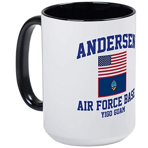 Andersen Air Force Base Guam - 11oz RINGER Coffee Mug, Ceramic 11oz Coffee Cup