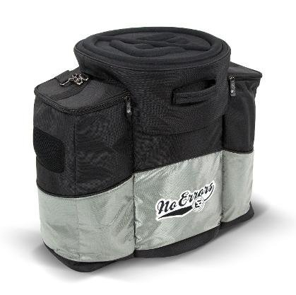 - No Errors The CBB Coaches Ball Buddy Baseball Bag - Coach Gear Bag Holds 6 Gallon Bucket of Balls - Built-in Cooler
