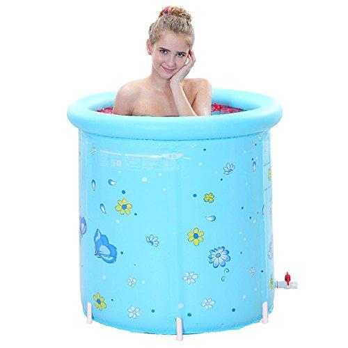 TOYM US Increase The Fashion Bath Tub Bath Barrels PVC Stent Bath Tub Folding Tub 80 80cm by Folding Bathtub