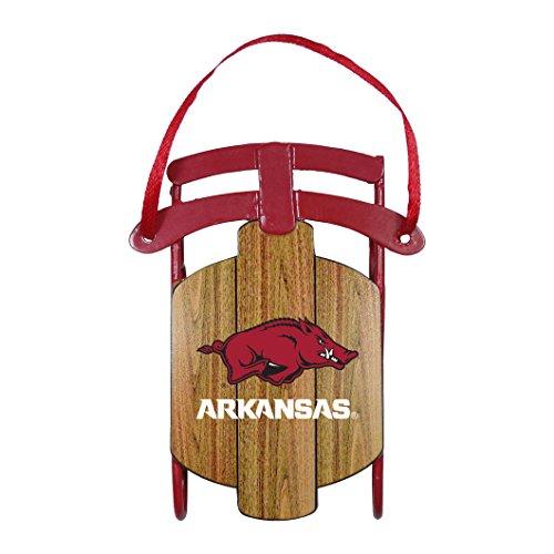 Arkansas Razorbacks Metal Sled Ornament ()