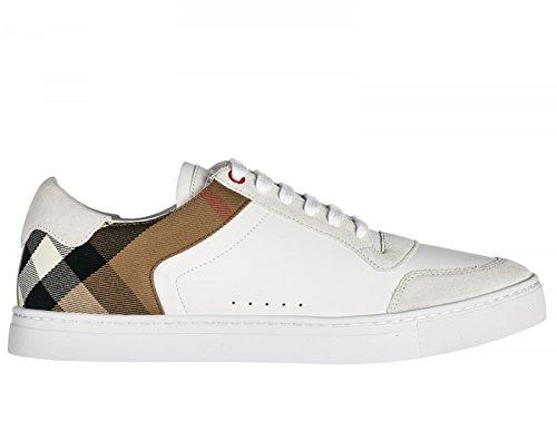 Burberry Zapatillas Para Hombre Blanco Bianco + Check