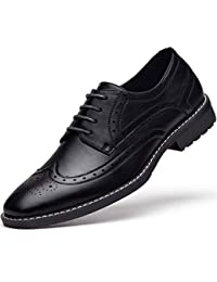 Men s Leather Oxford Dress Shoes Formal Lace Up Modern Shoes 8148e3657456