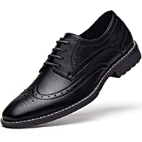 Men's Leather Oxford Dress Shoes Formal Lace Up Modern Shoes