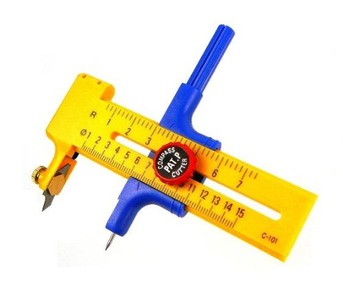 Circle-Cutter Compass, Premium-Grade Patented