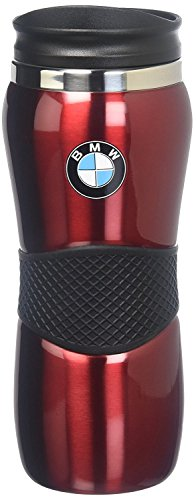 - BMW Stainless Steel Gripper Travel Mug - Red 15oz