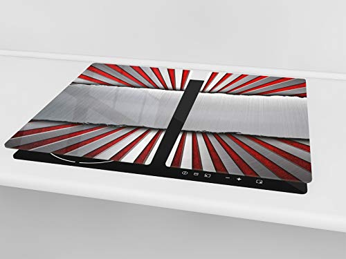 """Glass Cutting Board; MEASURES texture 55 Induction Cooktop cover 2 x 11,81"""" x 20,47""""; D09 Other SINGLE Tempered GLASS Kitchen Board 23,62"""" x 20,47""""; DOUBLE"""