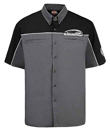 Davidson Shirt Embroidered Harley (Harley-Davidson Men's Screamin' Eagle Top Speed Embroidered Crew HARLMW0058 (L))