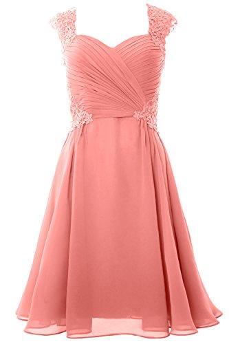 Party Cap Women Short Sleeve MACloth 2017 Dress Gown Formal Wedding Zartrosa Cocktail 58YqnwHxd