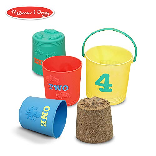 Melissa & Doug Sunny Patch Seaside Sidekicks Nesting Sand Pails
