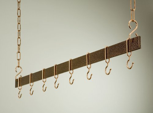 Hanging Bar Rack in Hammered Copper (54 in.) by Rogar