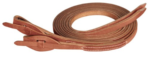 Harness Leather Split Reins - Weaver Leather ProTack Quick Change Split Rein Features Leather Tab Bit Ends, Brown
