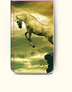OOFIT Apple iPhone 6 Case 4.7 Inches - Horse Jumping from the Cliff