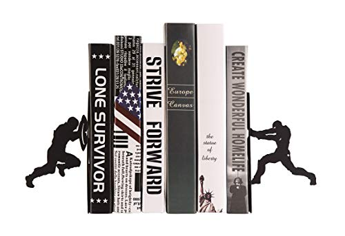 - Maunsell Heavy Duty Metal Civil War Movie Art Bookends | Nonskid Organizer Decorative | Unique Kids Bookend Supports Office Home Desk | Gift Geeks Kids | Iron Man vs Captain America | 1 Par | Black