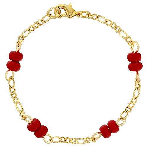 18k Gold Plated Red Bracelet for Baby Evil Eye Protection Newborn - Newborns Eyes