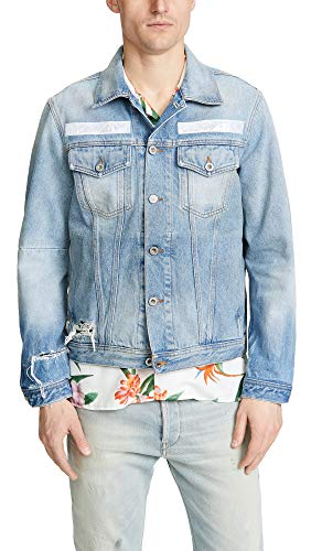 Diesel Men's Nhill Tm Jacket, Denim, Blue, Large ()
