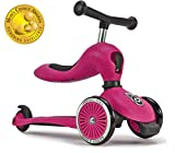 Scoot and Ride 2-in-1 Bike and Kick Scooter Combo for Children Ages 1-5 Years Old (Pink)