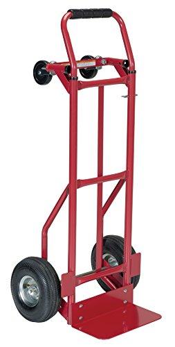 (Vestil DSHT-500-PN Steel Convertible Hand Truck with Loop Handle, Pneumatic Wheels, 500 lbs Load Capacity, 48