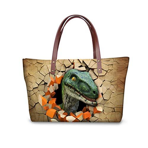 Dinosaur femme showudesigns chat pour Cabas Multicolore 2 wnacPc0Sq
