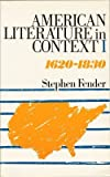 American Literature in Context, Stephen Fender, 0416745903