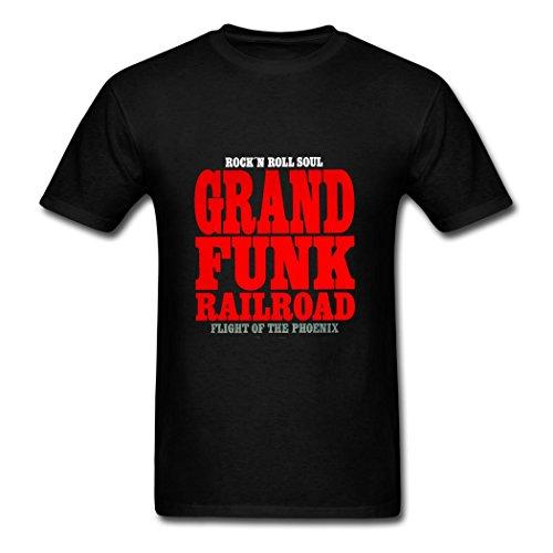 Men's casual Grand Funk Railroad logo t shirt XXL (Logo Railroad)