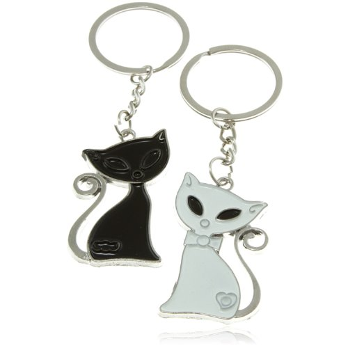 Amazon.com: Tono de plata individual gatitos diseño de gato ...