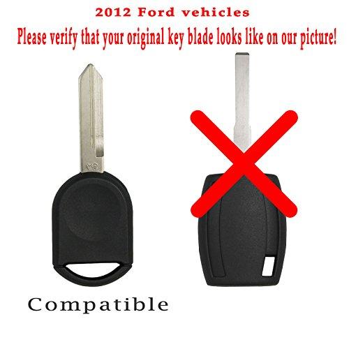 Keyless2Go New Uncut Replacement 80 Bit Transponder Ignition Car Key H92 H84 H85 (2 Pack)