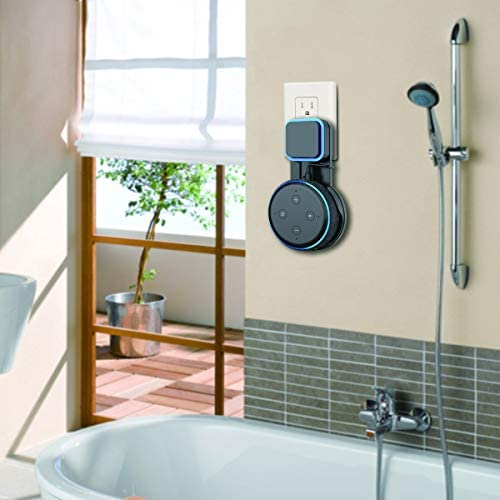 SPORTLINK Soporte para Dot (3.ª generación), Gestión de Cables incorporada, sin Tornillos en Las cocinas, baño y Dormitorio (Negro) 10