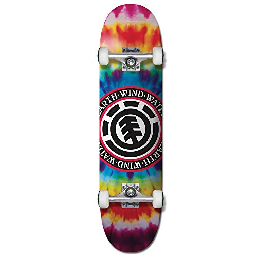 Element Tie Dye Seal Complete Skateboard Inch Complete Skateboard Multi Colored 7.7