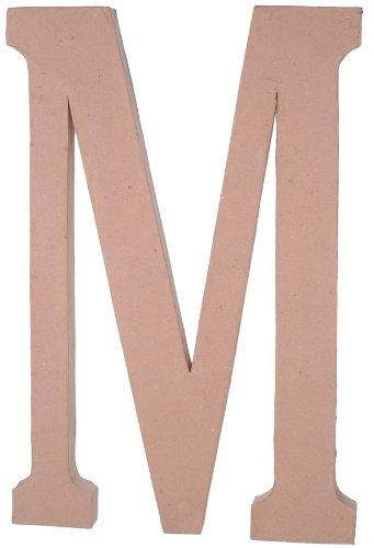23.5 Inch Paper Mache Letter - Paper Mache Letter - M - 23.5 inches