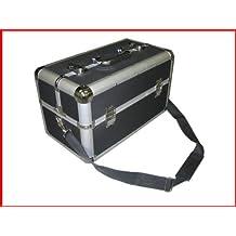 Large Pro Makeup Aluminum Train Case Black