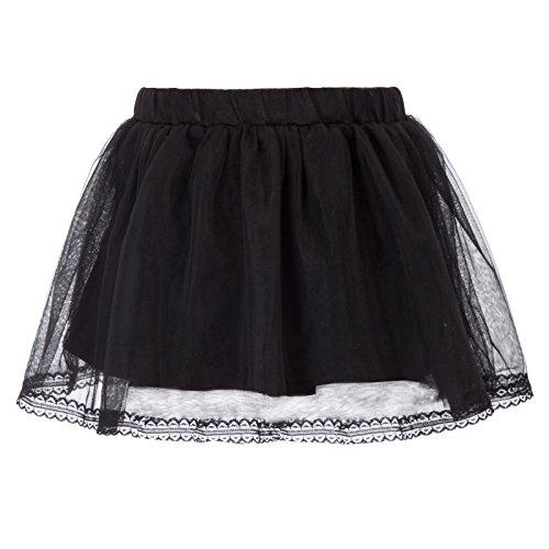 GRACE KARIN Girl Black 3 Layers Organza Toddler Tutu Skirts 4~5Y CL798-1