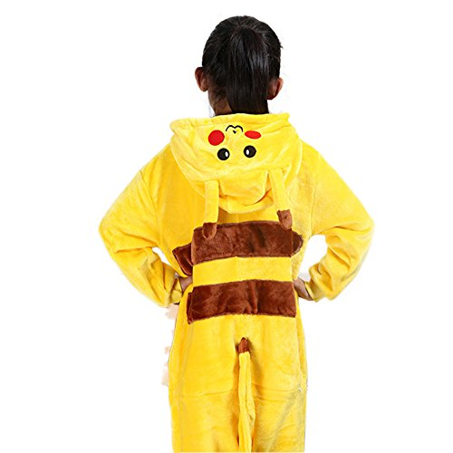 [Aurora Bridal Cosplay Animal Pajamas Halloween Christmas Costume Pikachu XL] (Customes Halloween Maternity)