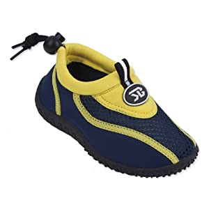 New Starbay Brand Kid's Yellow & Navy Athletic Water Shoes Aqua Socks Size 11